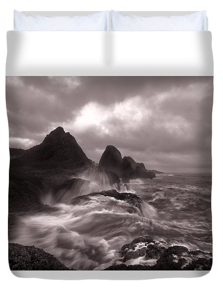 Seal Rock Thunder Duvet Cover