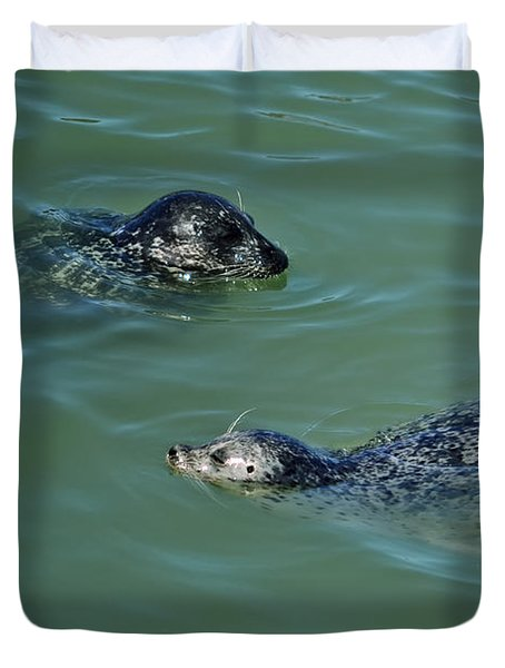 Sealion Friends Duvet Cover