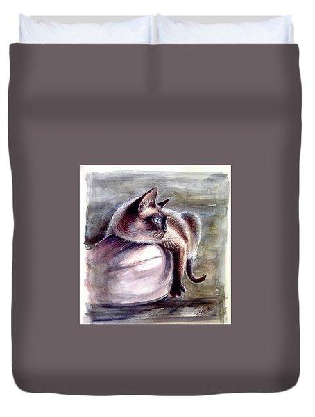 Siamese Cat 2 Duvet Cover