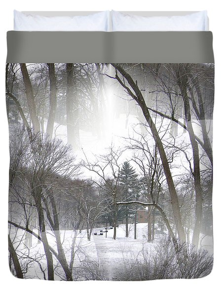 Seamless Home On The Hill Duvet Cover by Skyler Tipton