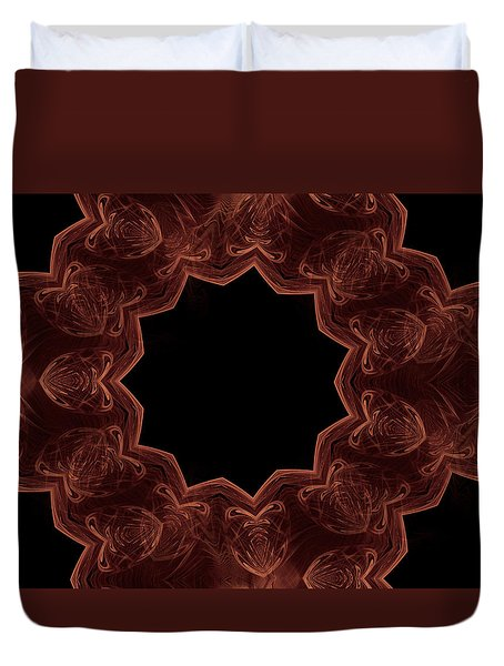 Seamless Kaleidoscope Copper Duvet Cover