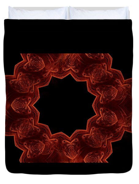 Seamless Kaleidoscope Copper Saturated Duvet Cover