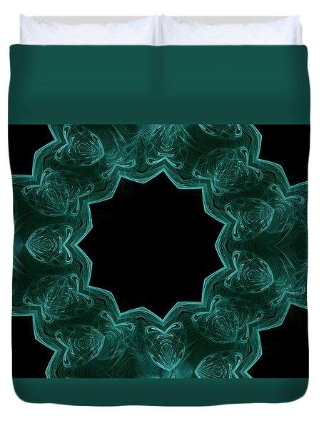 Seamless Kaleidoscope Green Duvet Cover