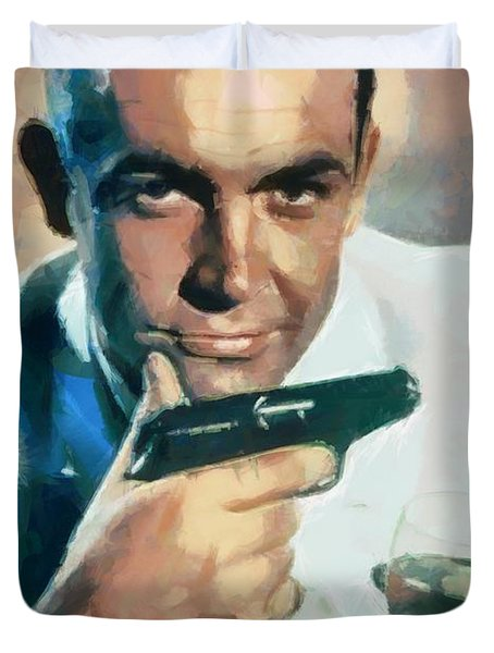Sean Connery Duvet Cover