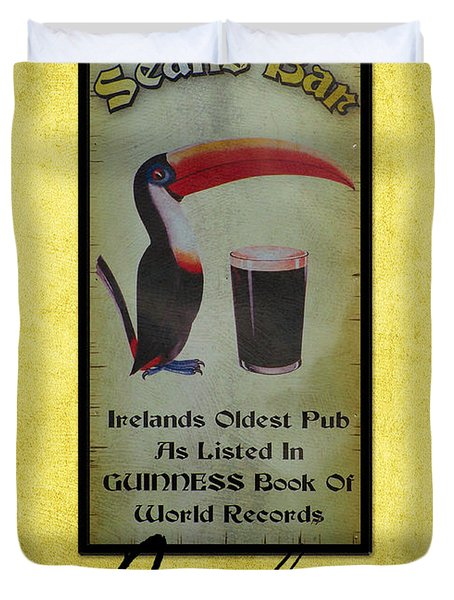 Seans Bar Guinness Pub Sign Athlone Ireland Duvet Cover