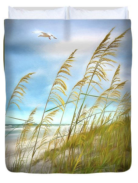 Seaoats Fantasy Duvet Cover
