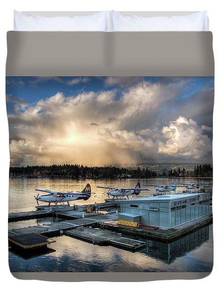 Seaplane Terminal Duvet Cover