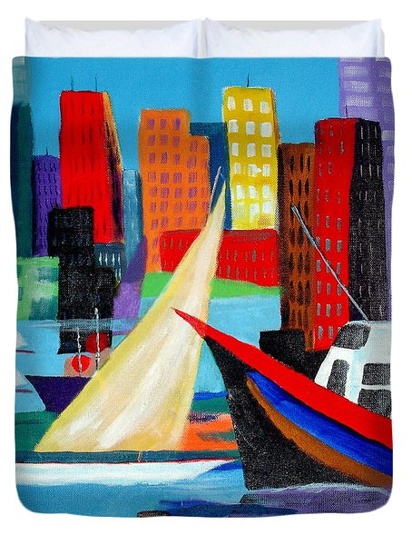 Seaport Duvet Cover by Susan Kubes