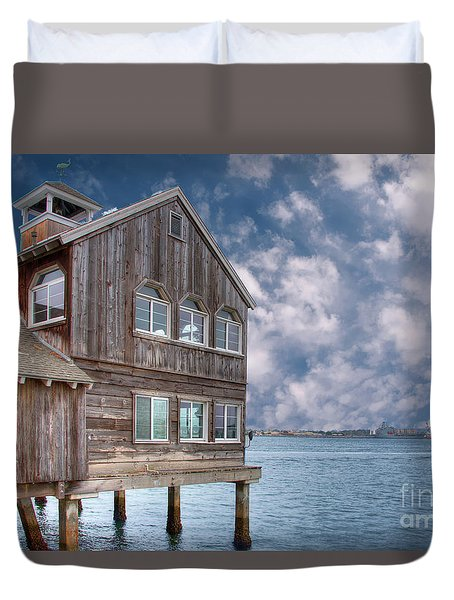 Seaport Village Duvet Cover