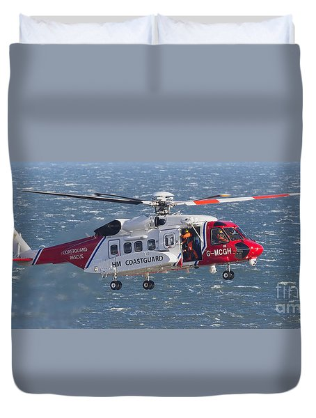 Search And Rescue 2 Duvet Cover by David  Hollingworth