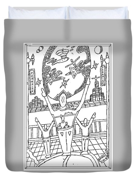 Search For A Rescuer Duvet Cover