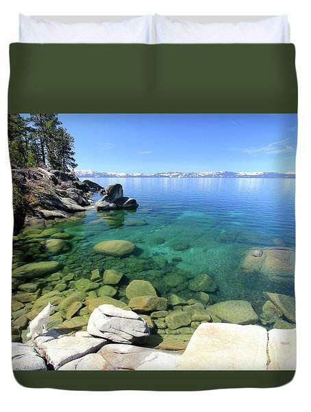 Search Her Depths Duvet Cover