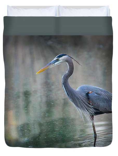 Duvet Cover featuring the photograph Searching For Lunch by Julie Andel