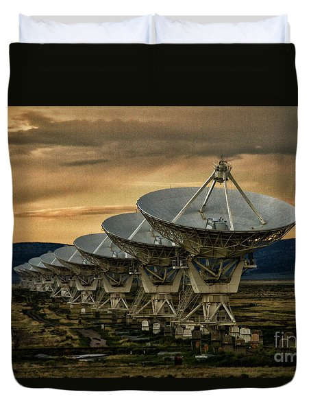 Searching For Transmissions Duvet Cover by Ruth Jolly