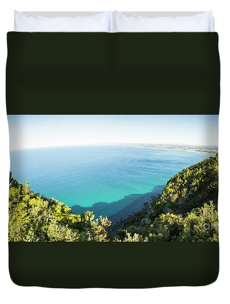 Seas Of Turquoise Blue Duvet Cover