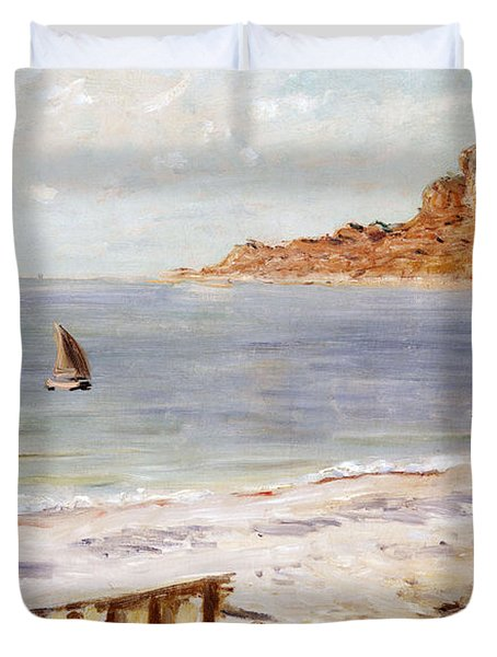 Seascape At Sainte Adresse  Duvet Cover