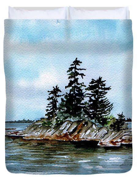 Seascape Casco Bay Maine Duvet Cover