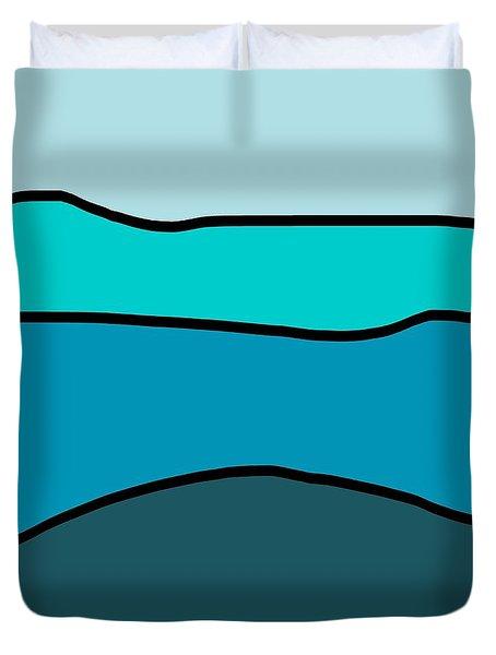 Seascape Duvet Cover by Jeff Gater