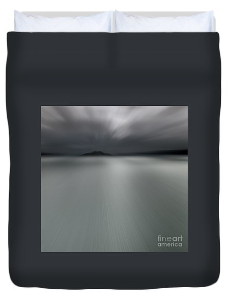 Duvet Cover featuring the photograph Seascape Mono by Craig B