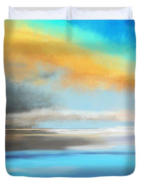 Seascape Painting Duvet Cover