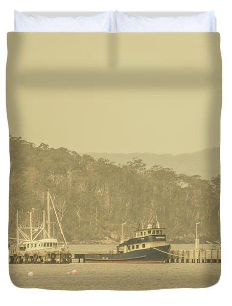 Seascapes Of Old Duvet Cover