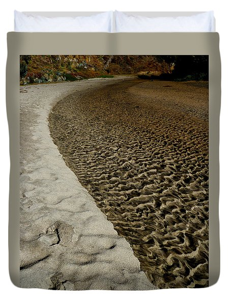 Seascape's Secret Path Duvet Cover