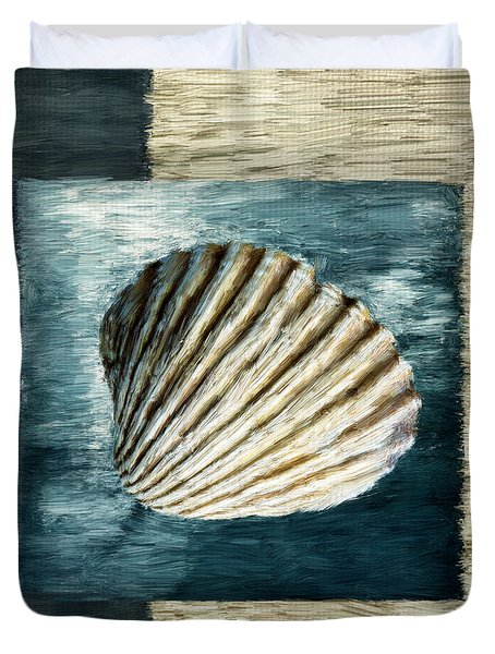 Seashell Souvenir Duvet Cover by Lourry Legarde