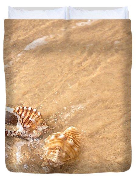 Seashell Turbulence Duvet Cover by Kaye Menner