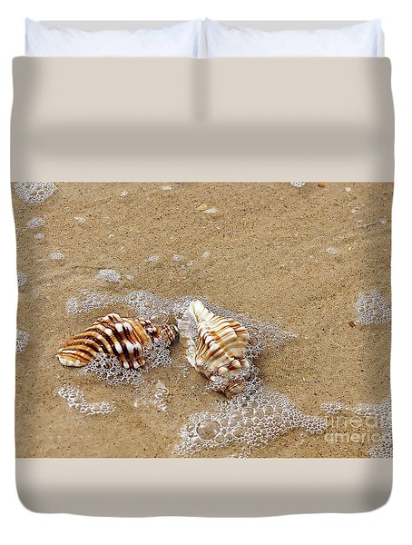 Seashells And Bubbles 2 Duvet Cover by Kaye Menner