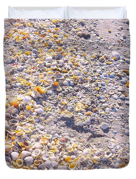 Seashells In Sanibel Island, Florida Duvet Cover