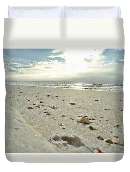 Seashells On The Seashore Duvet Cover