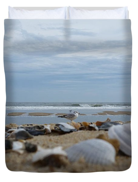 Seashells Seagull Seashore Duvet Cover