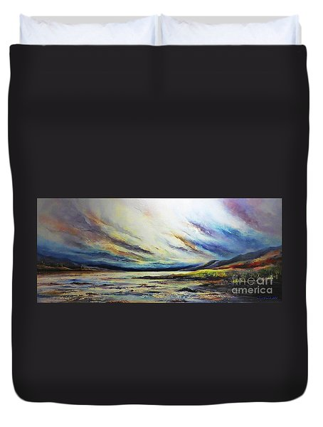 Seaside Duvet Cover by AmaS Art
