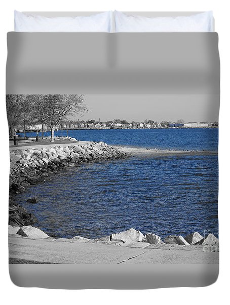 Seaside Blue Duvet Cover