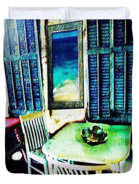 Seaside Cafe Duvet Cover