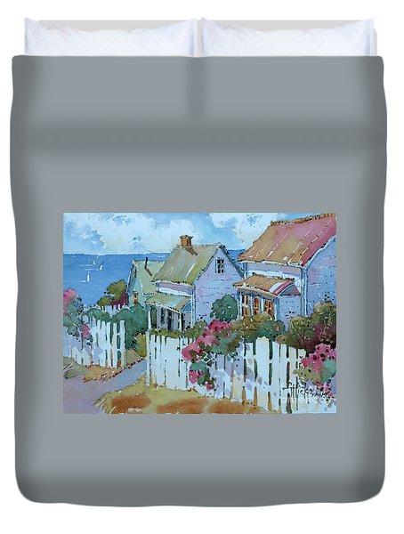 Seaside Cottages Duvet Cover