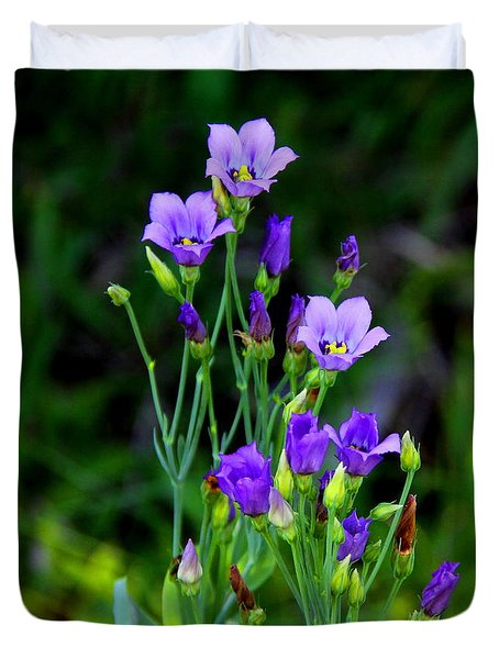 Seaside Gentian Wildflower  Duvet Cover