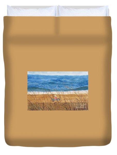 Seaside In Massachusetts Duvet Cover