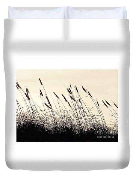Seaside Oats Duvet Cover by Joy Hardee