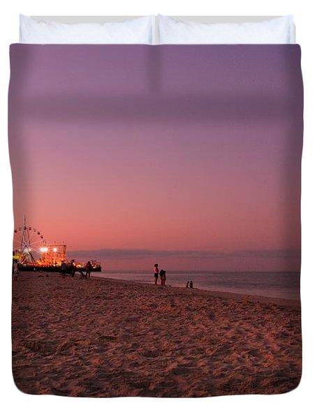 Seaside Park I - Jersey Shore Duvet Cover by Angie Tirado