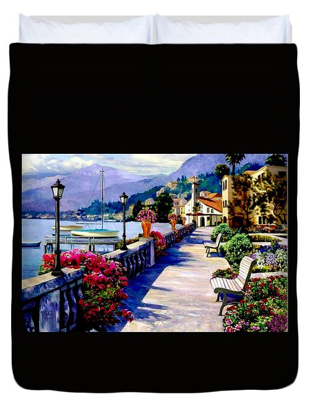 Seaside Pathway Duvet Cover