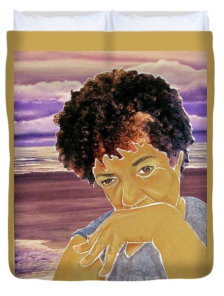 Seaside Pondering Duvet Cover