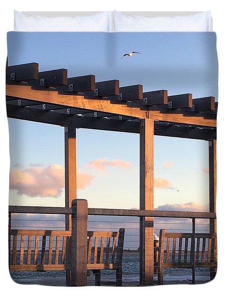 Seaside Seating  Duvet Cover
