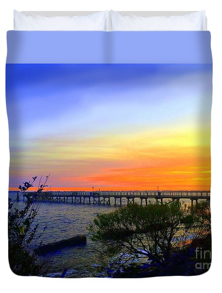 Seaside Sunset Duvet Cover