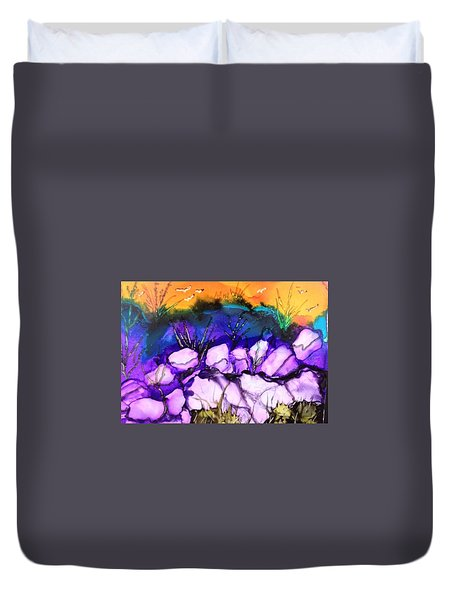 Seaside Duvet Cover by Suzanne Canner
