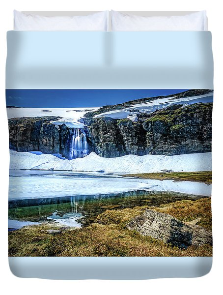 Duvet Cover featuring the photograph Seasonal Worker by Dmytro Korol