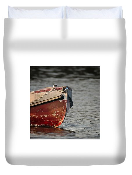 Duvet Cover featuring the photograph Seasoned Bow by Allen Biedrzycki