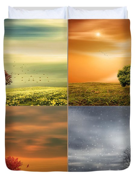 Seasons' Delight Duvet Cover by Lourry Legarde