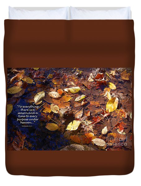 Duvet Cover featuring the photograph Seasons by Diane E Berry