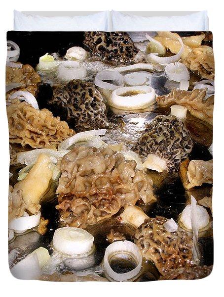 Season's First - Morel Mushrooms Duvet Cover